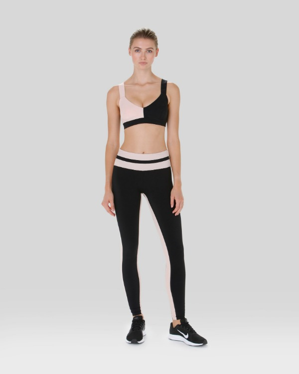 lift up leggings - black stripe