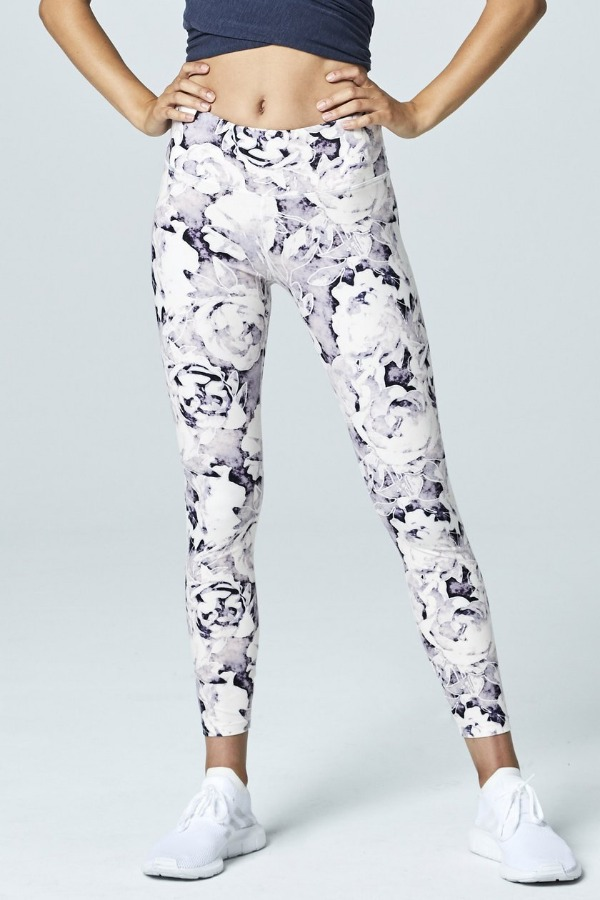 lift up leggings - rose print